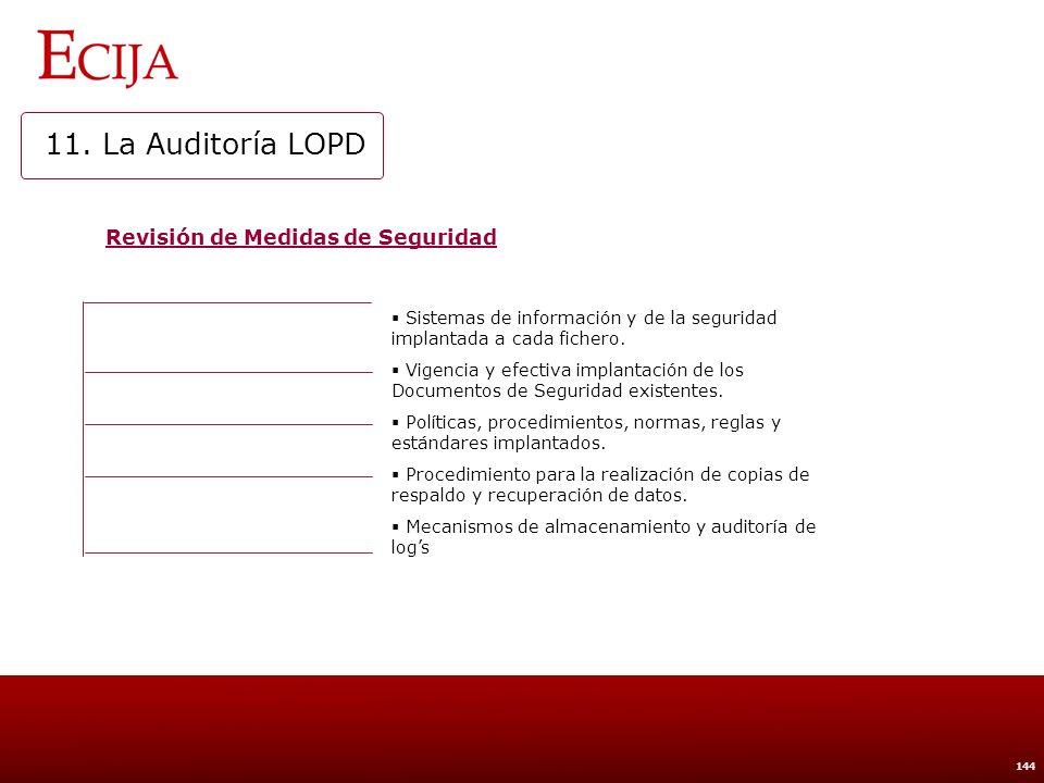 11. La Auditoría LOPD Realización de pruebas con datos reales
