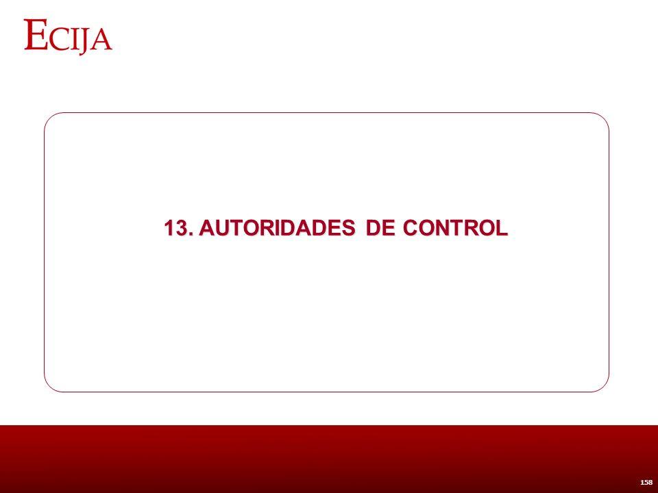 13. Autoridades de Control