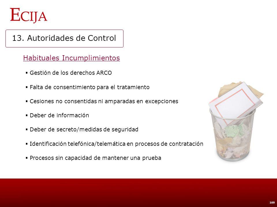 14. INSPECCIÓN POR LA AUTORIDAD DE CONTROL
