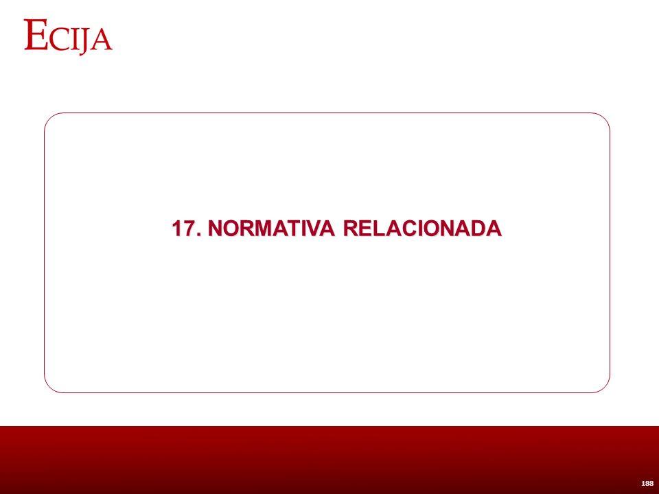 17. Normativa relacionada