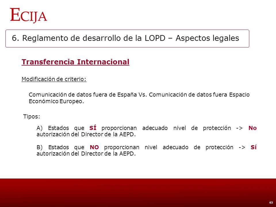 6. Reglamento de desarrollo de la LOPD – Aspectos técnicos