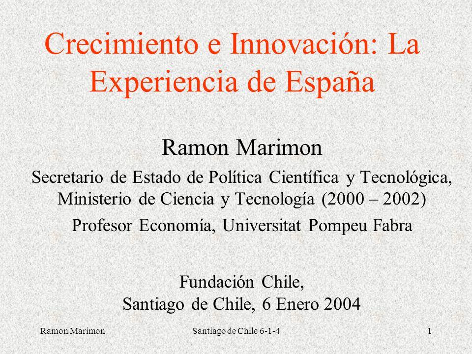 Crecimiento e Innovación: La Experiencia de España