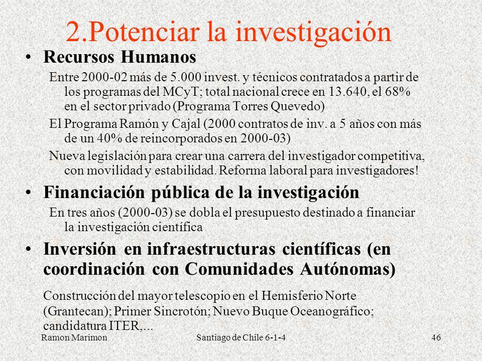 2.Potenciar la investigación