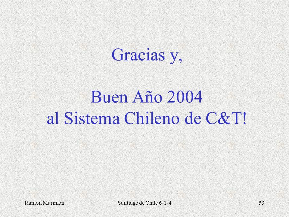 Gracias y, Buen Año 2004 al Sistema Chileno de C&T!
