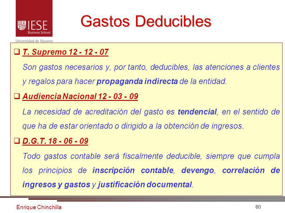 Gastos Deducibles T. Supremo 12 - 12 - 07