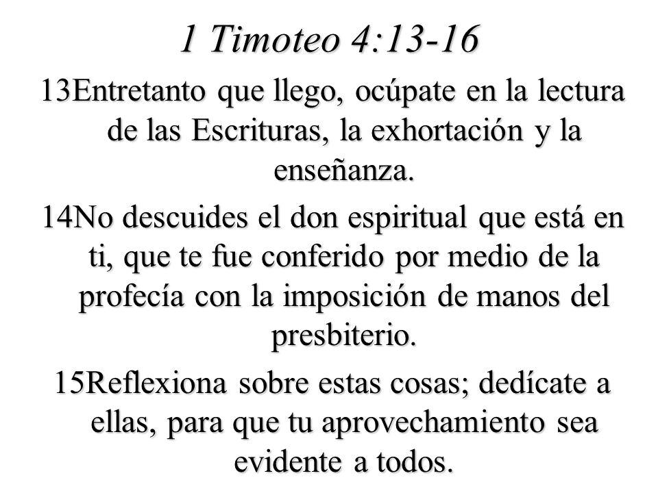 1 Timoteo 4:13-16