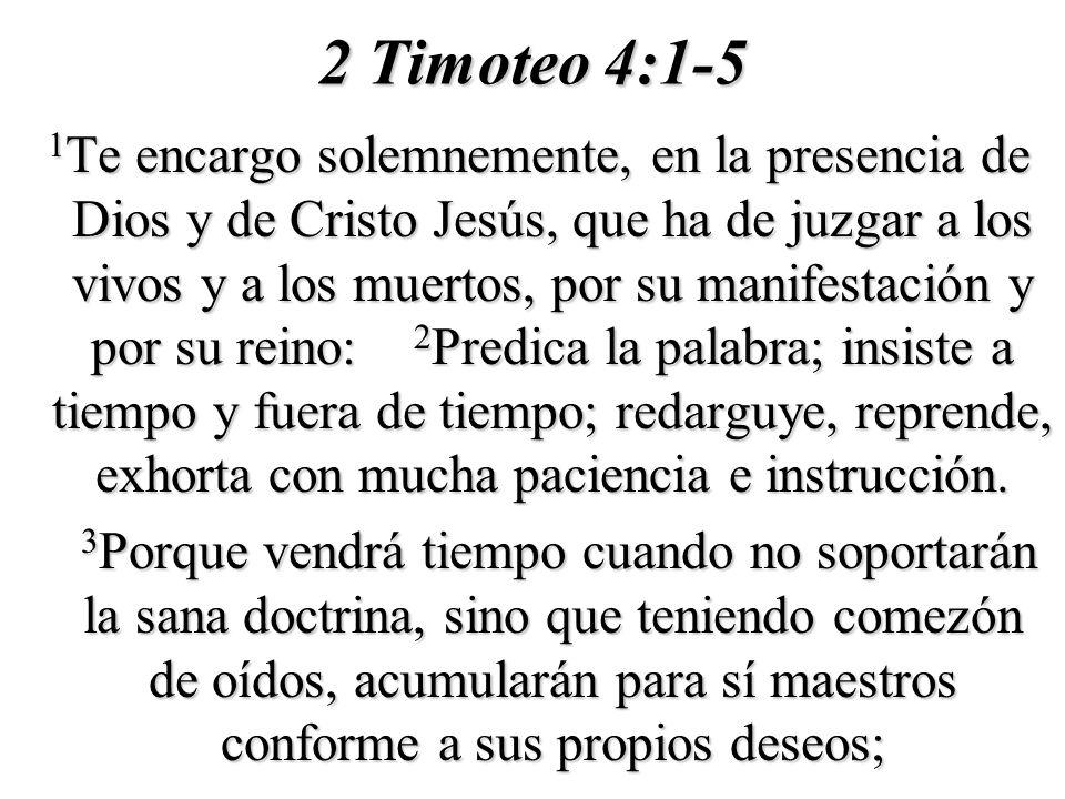2 Timoteo 4:1-5