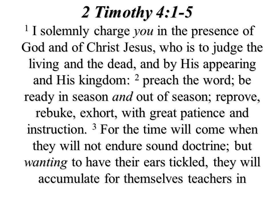 2 Timothy 4:1-5