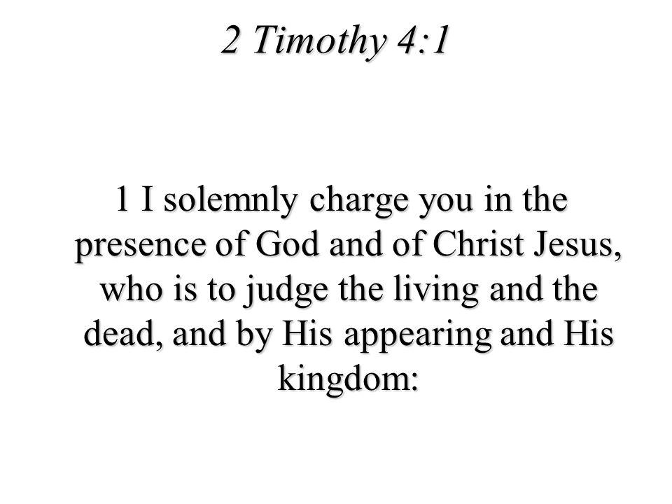 2 Timothy 4:1