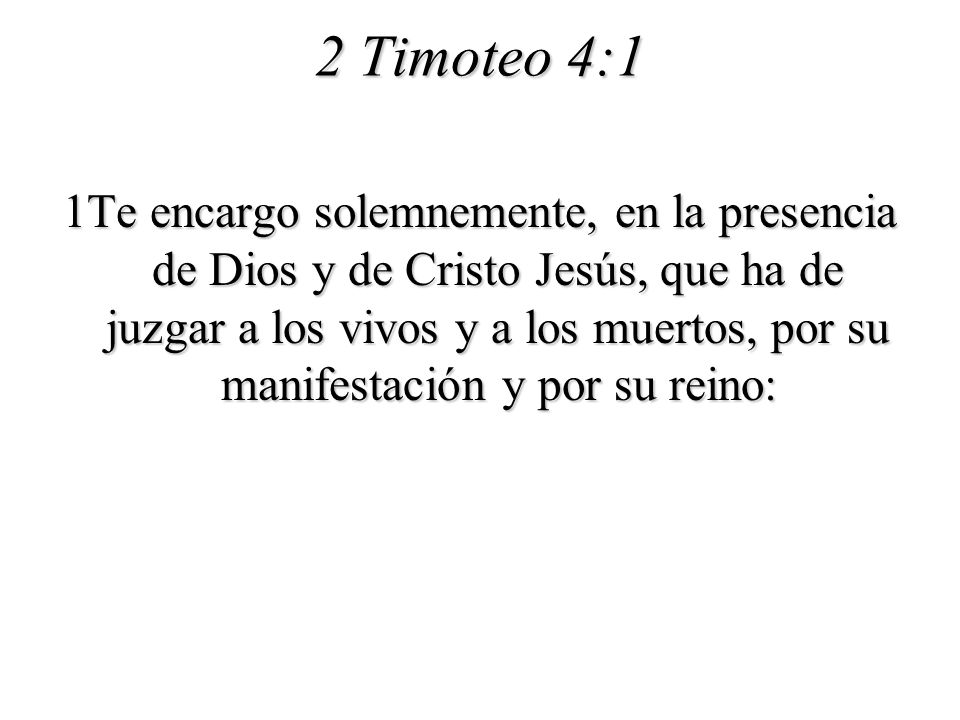 2 Timoteo 4:1