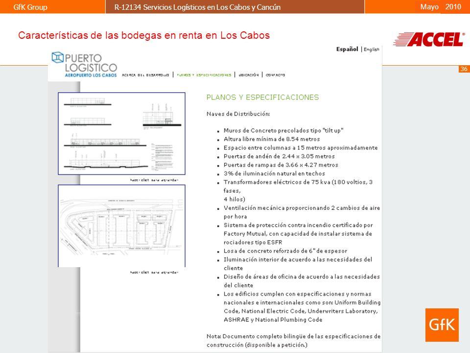Características de las bodegas en renta en Los Cabos
