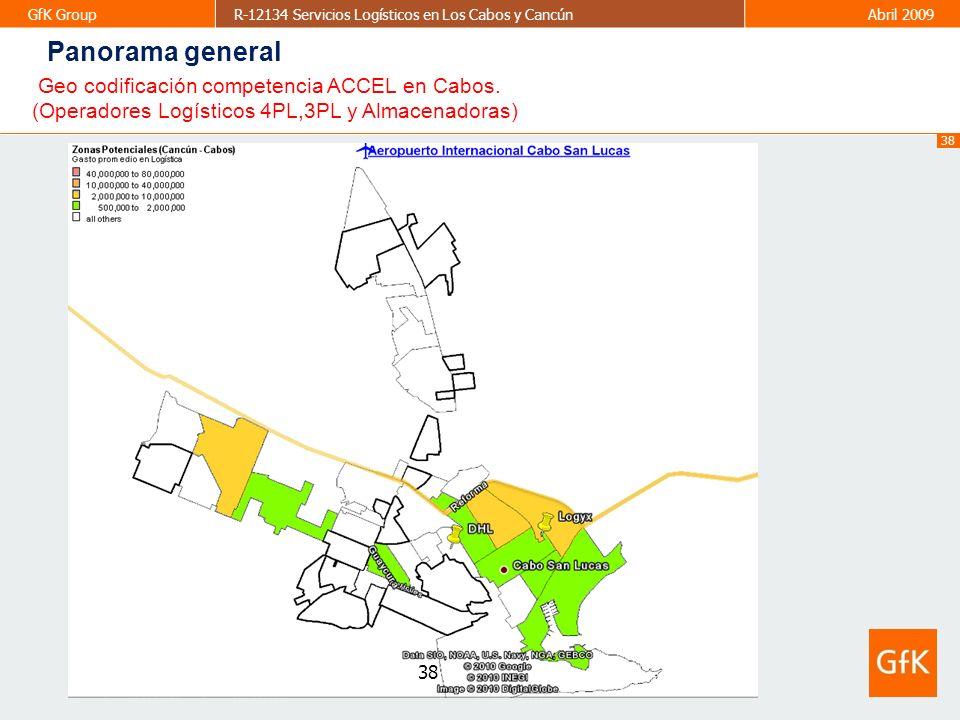 Panorama general Geo codificación competencia ACCEL en Cabos.