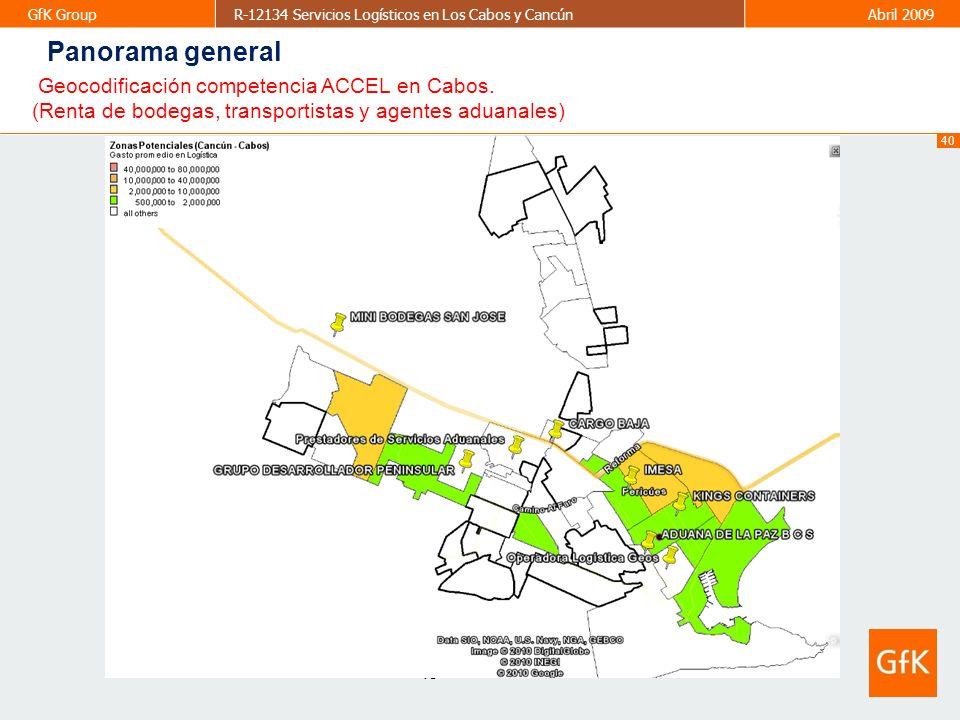 Panorama general Geocodificación competencia ACCEL en Cabos.
