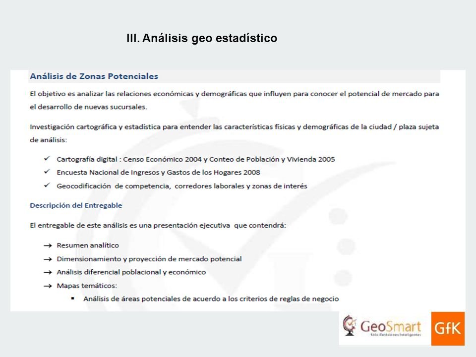 III. Análisis Geoestadístico