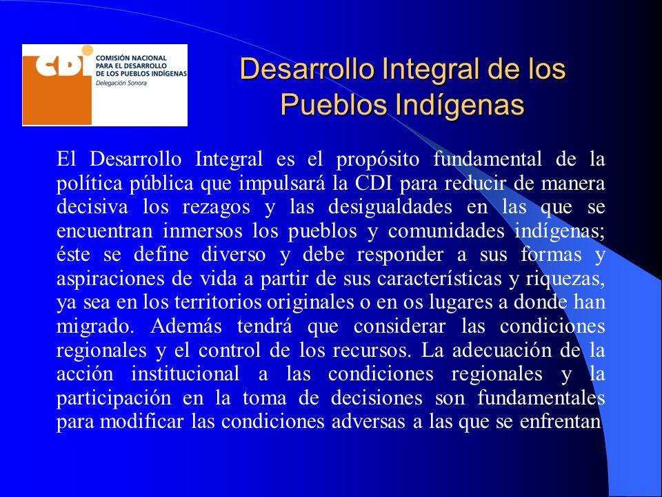 Desarrollo Integral de los Pueblos Indígenas