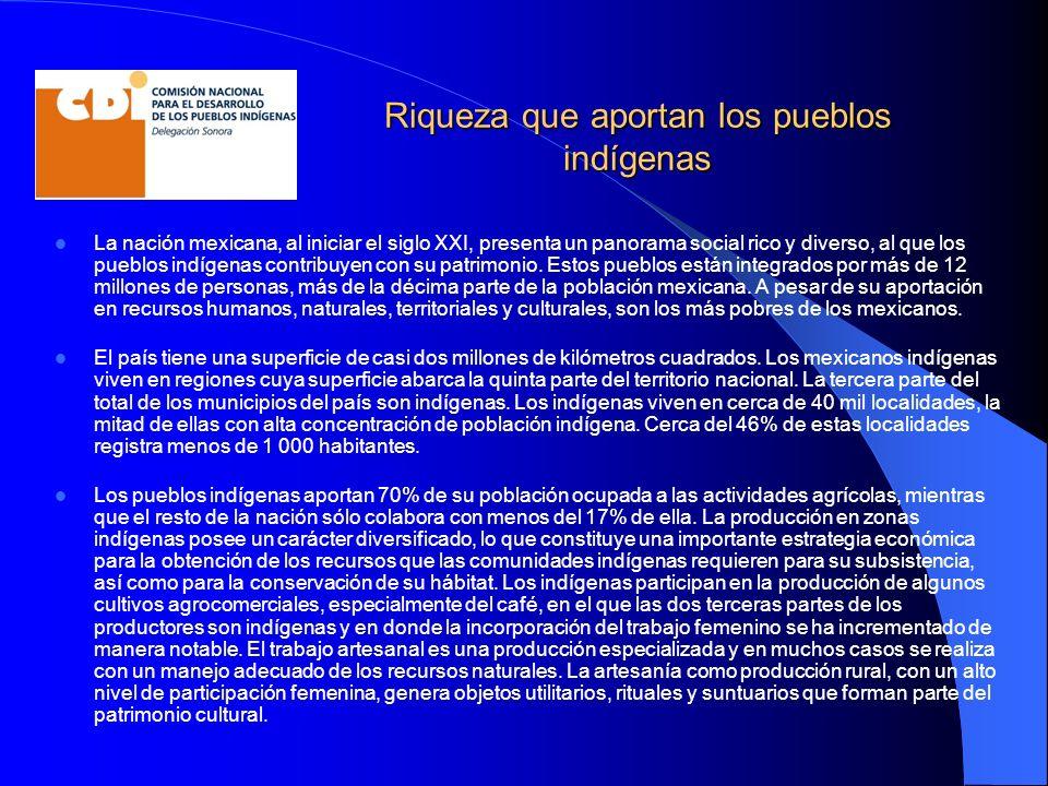 Riqueza que aportan los pueblos indígenas