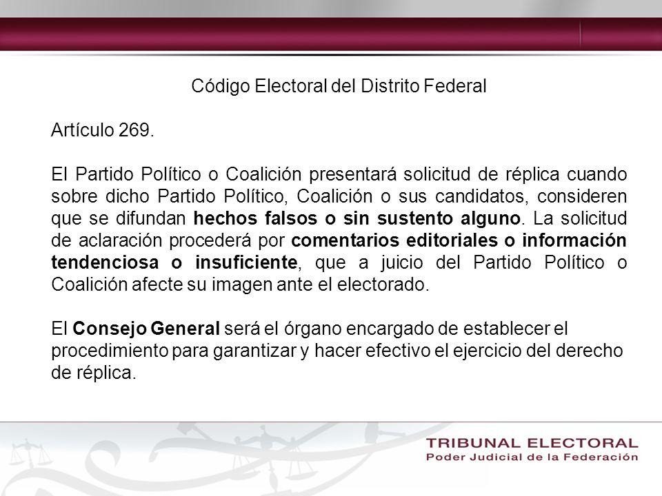 Código Electoral del Distrito Federal