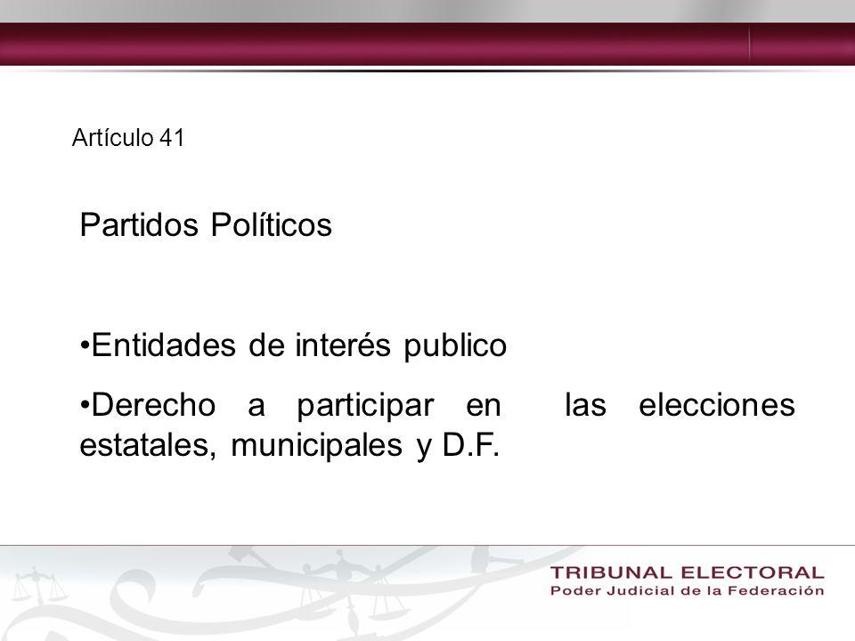 Entidades de interés publico