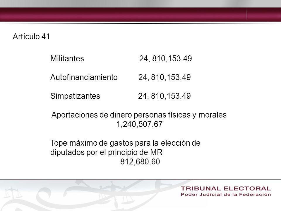 Aportaciones de dinero personas físicas y morales 1,240,507.67