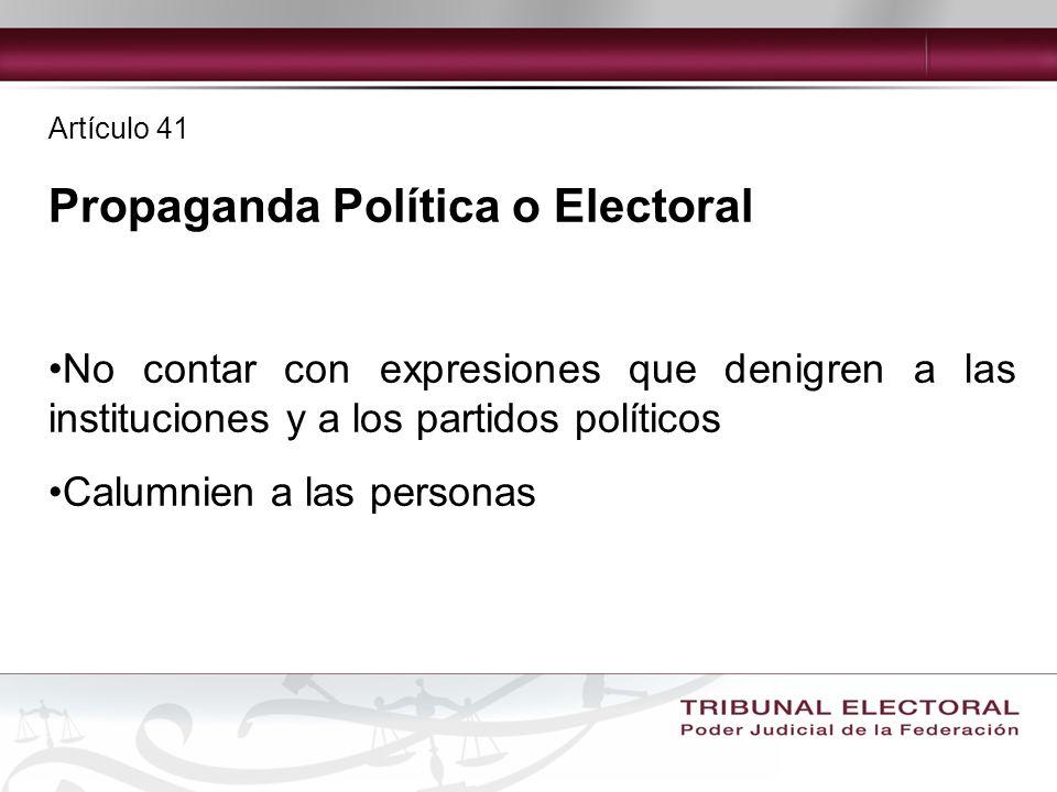 Propaganda Política o Electoral