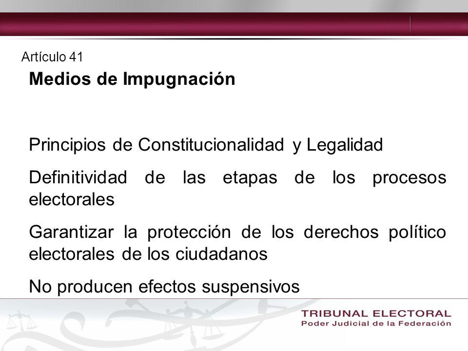 Principios de Constitucionalidad y Legalidad