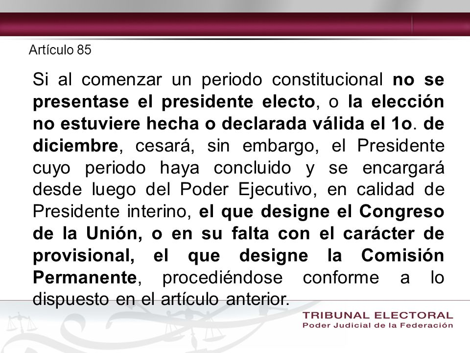 Artículo 85