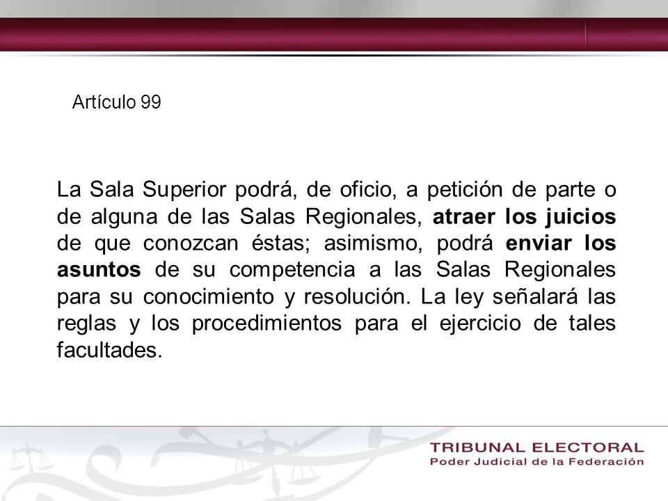 Artículo 99