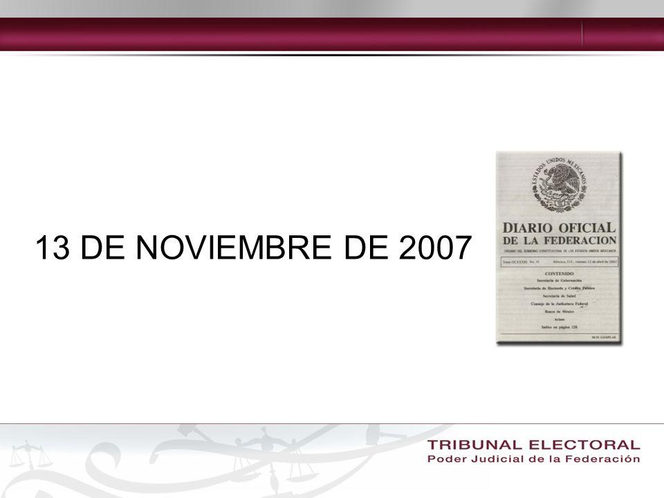 13 DE NOVIEMBRE DE 2007