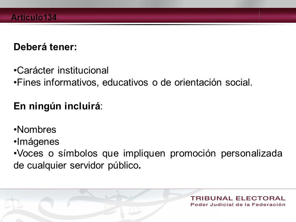 Carácter institucional