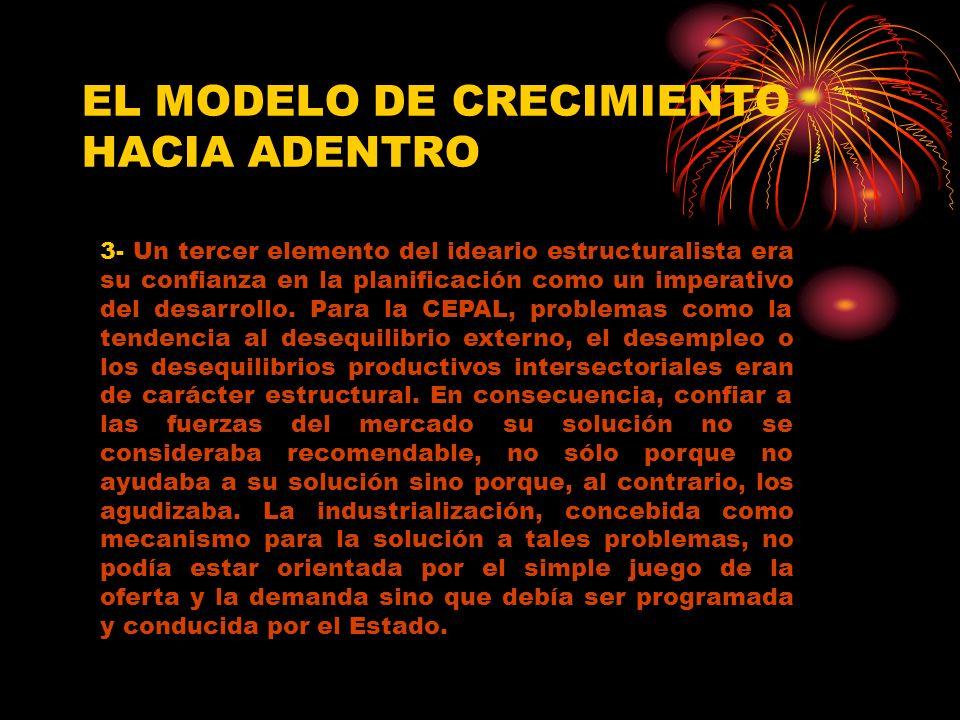 EL MODELO DE CRECIMIENTO HACIA ADENTRO