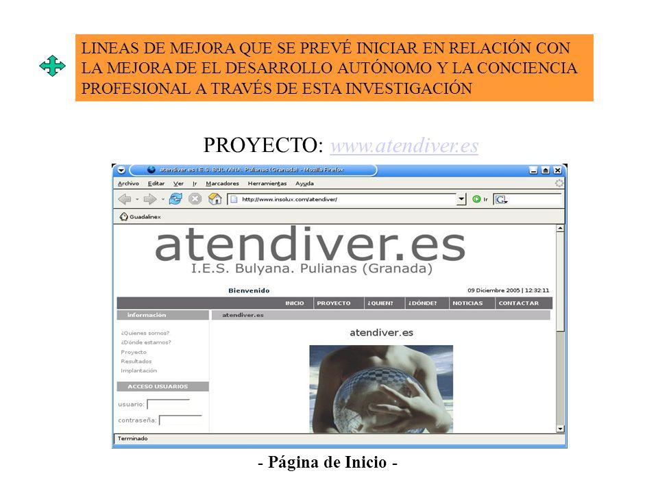PROYECTO: www.atendiver.es