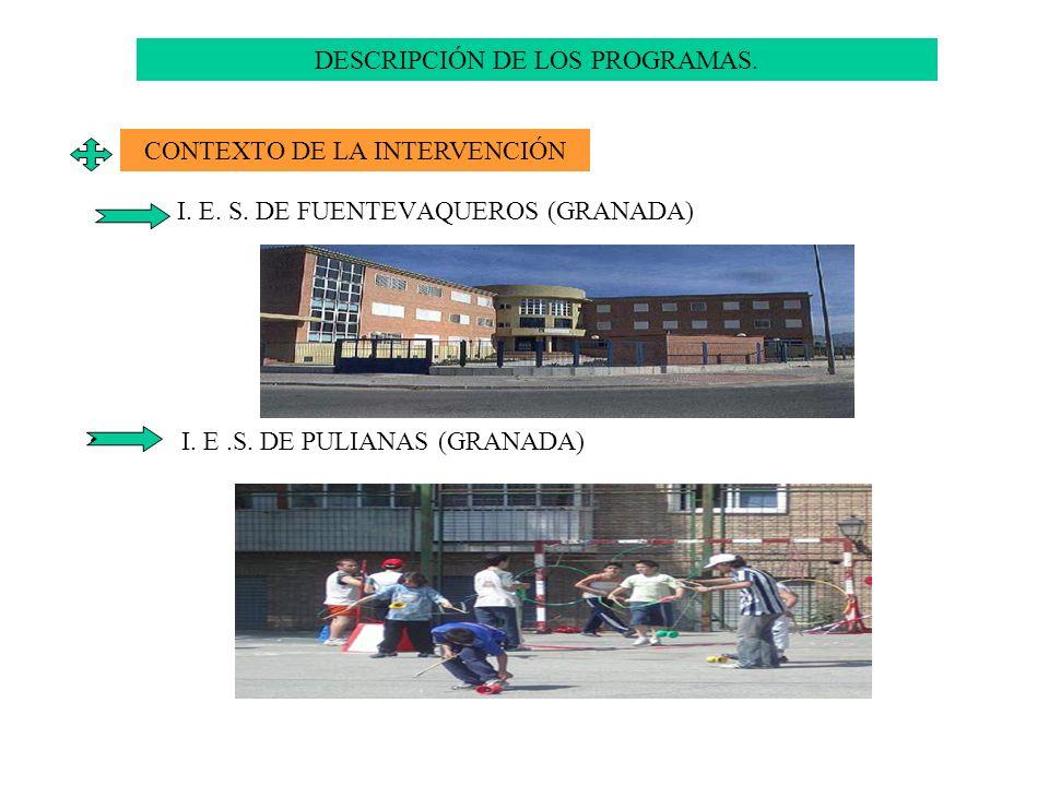 DESCRIPCIÓN DE LOS PROGRAMAS.
