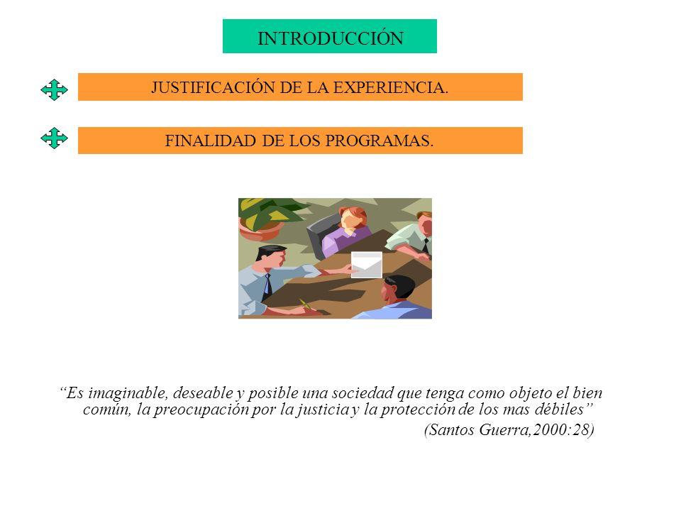 INTRODUCCIÓN JUSTIFICACIÓN DE LA EXPERIENCIA.