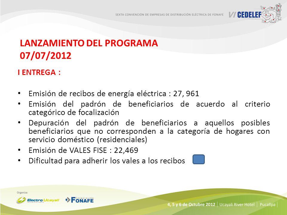 LANZAMIENTO DEL PROGRAMA 07/07/2012
