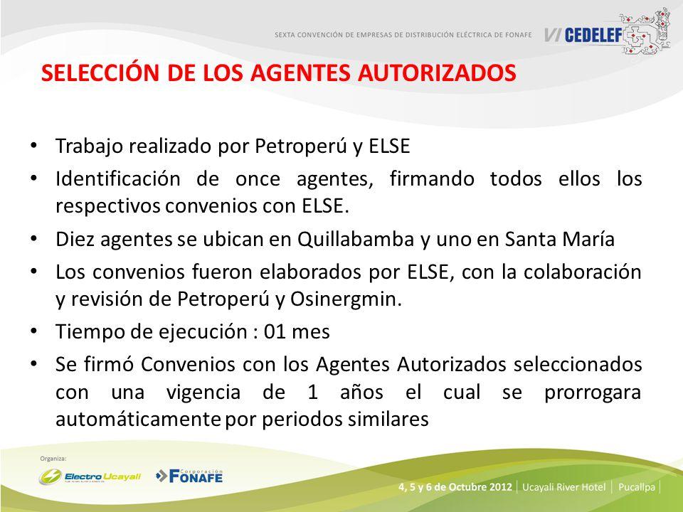 SELECCIÓN DE LOS AGENTES AUTORIZADOS