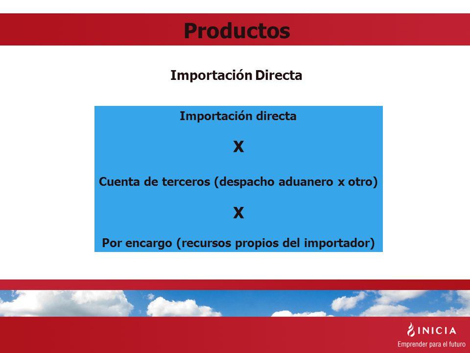 Productos X Importación Directa Importación directa