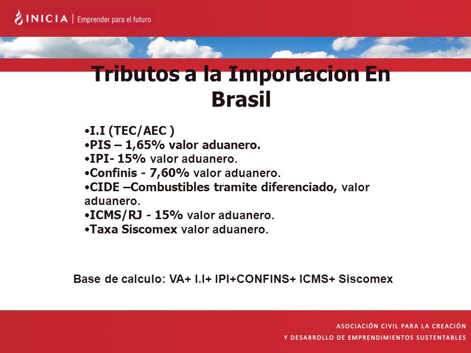 Tributos a la Importacion En Brasil