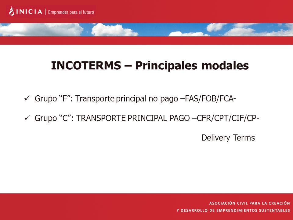 INCOTERMS – Principales modales
