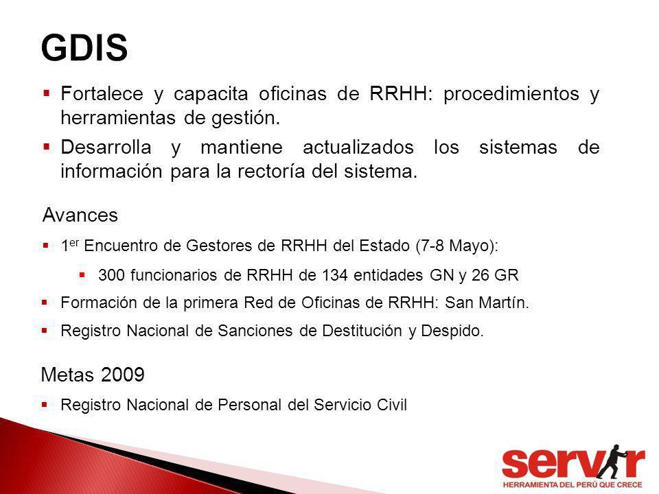 GDIS Fortalece y capacita oficinas de RRHH: procedimientos y herramientas de gestión.
