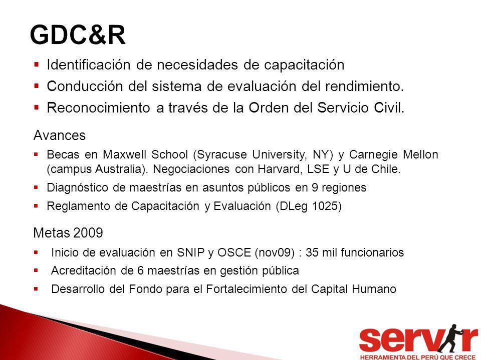GDC&R Identificación de necesidades de capacitación