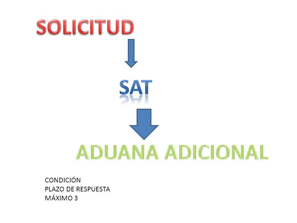SOLICITUD Sat ADUANA ADICIONAL