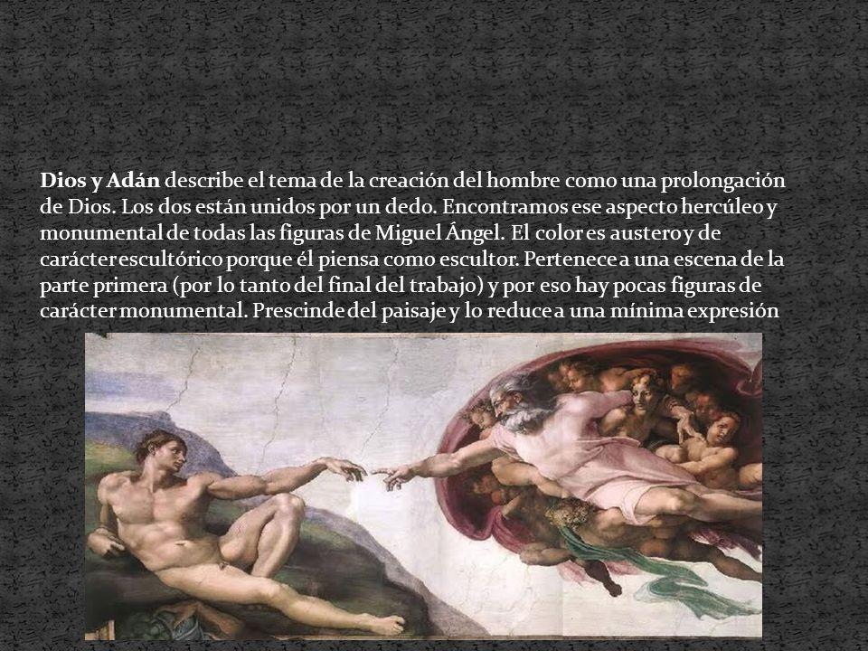 Dios y Adán describe el tema de la creación del hombre como una prolongación de Dios.
