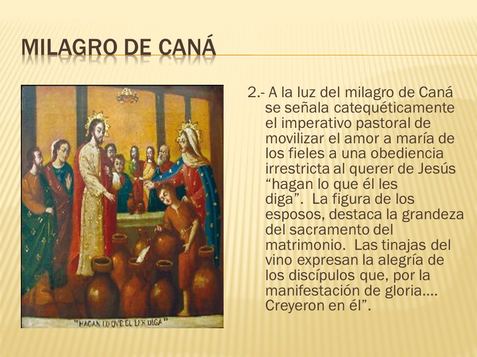 milagro de Caná