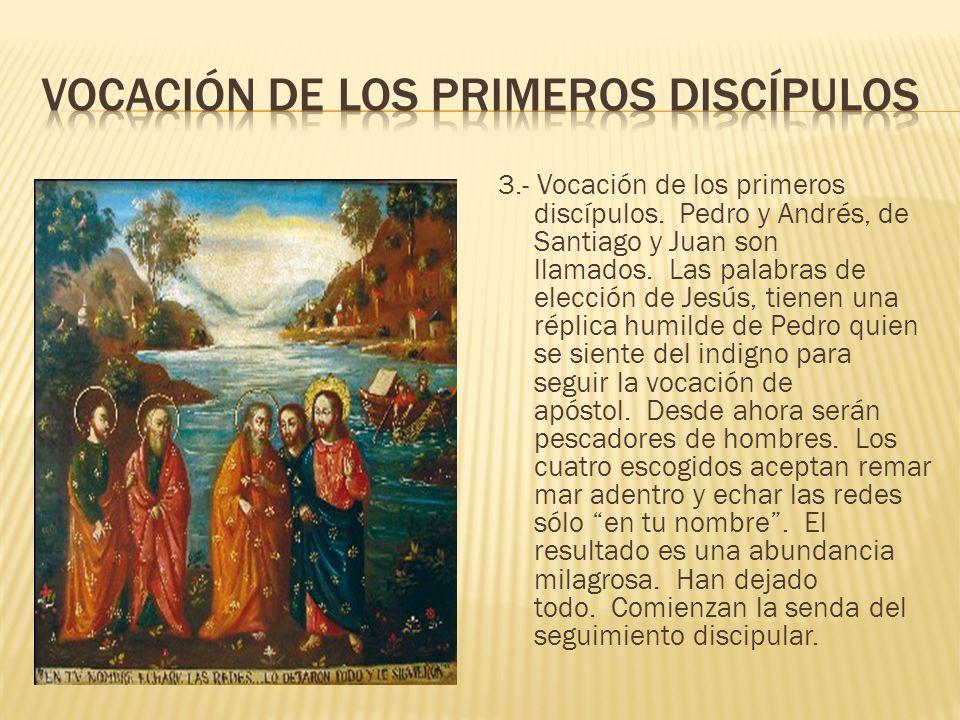 Vocación de los primeros discípulos