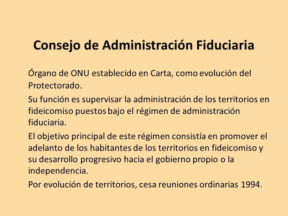 Consejo de Administración Fiduciaria