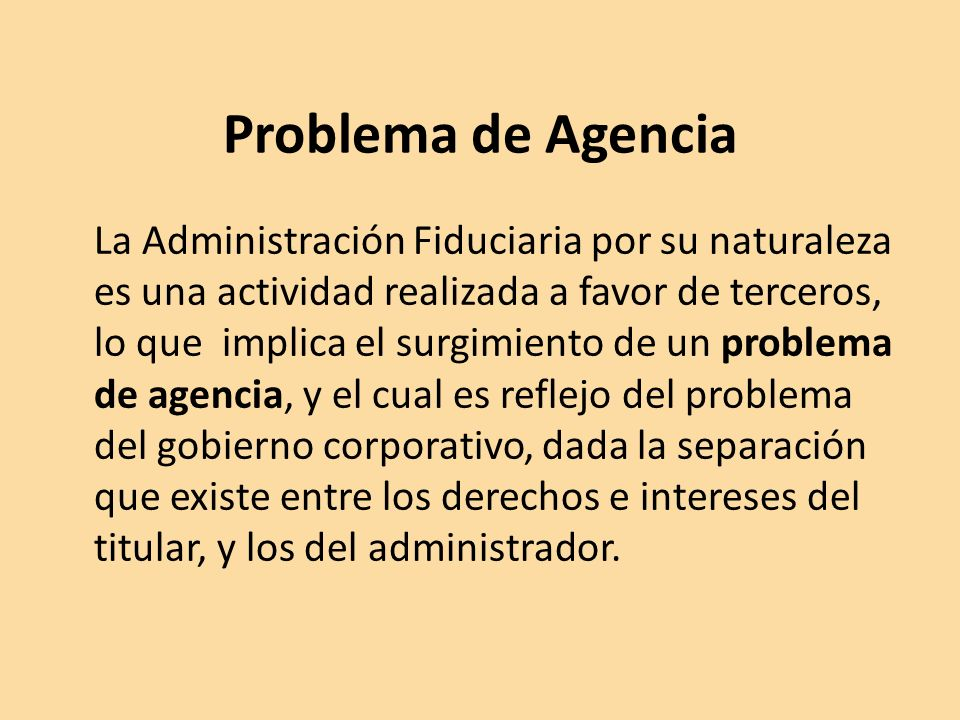 Problema de Agencia