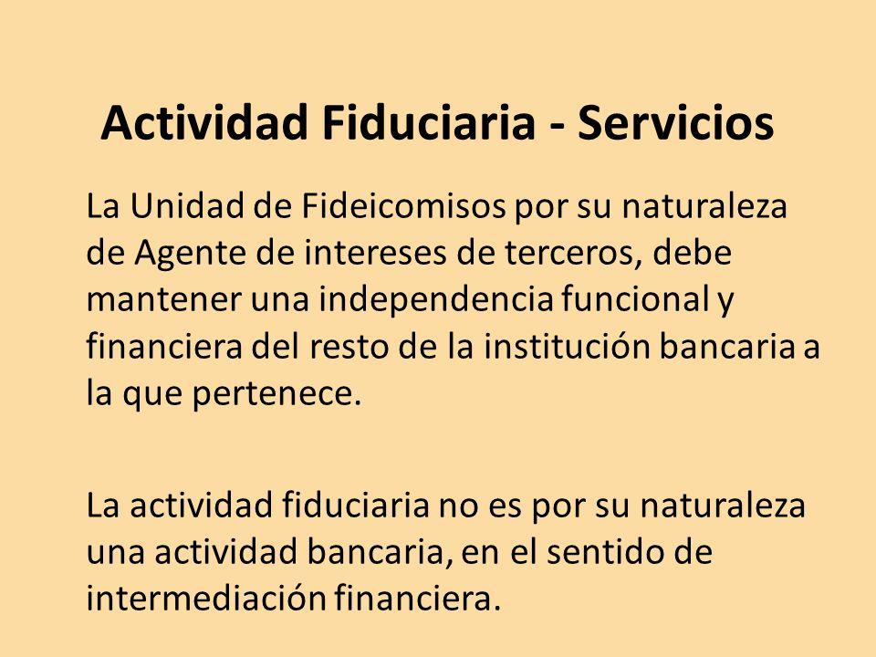 Actividad Fiduciaria - Servicios