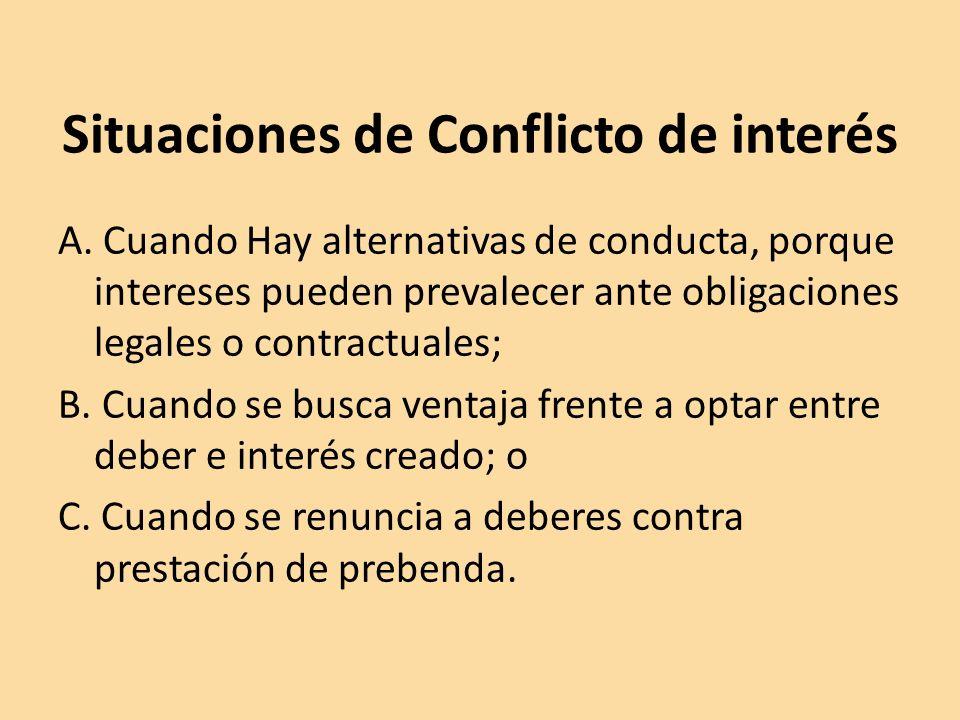 Situaciones de Conflicto de interés