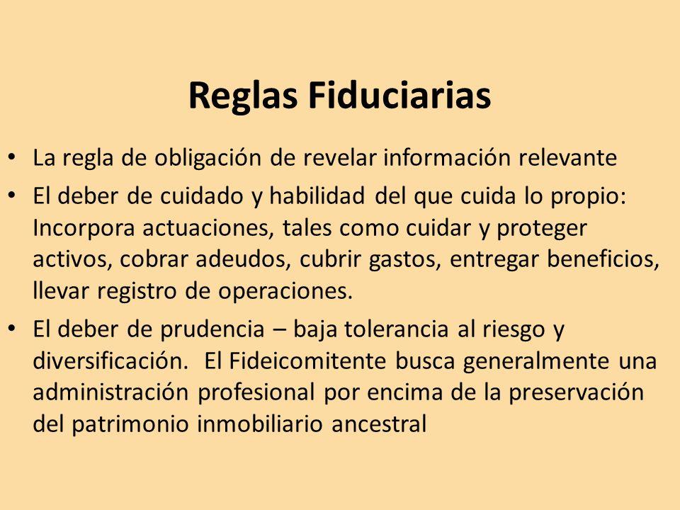 Reglas Fiduciarias La regla de obligación de revelar información relevante.