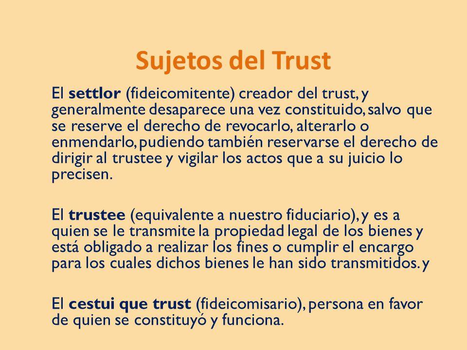 Sujetos del Trust
